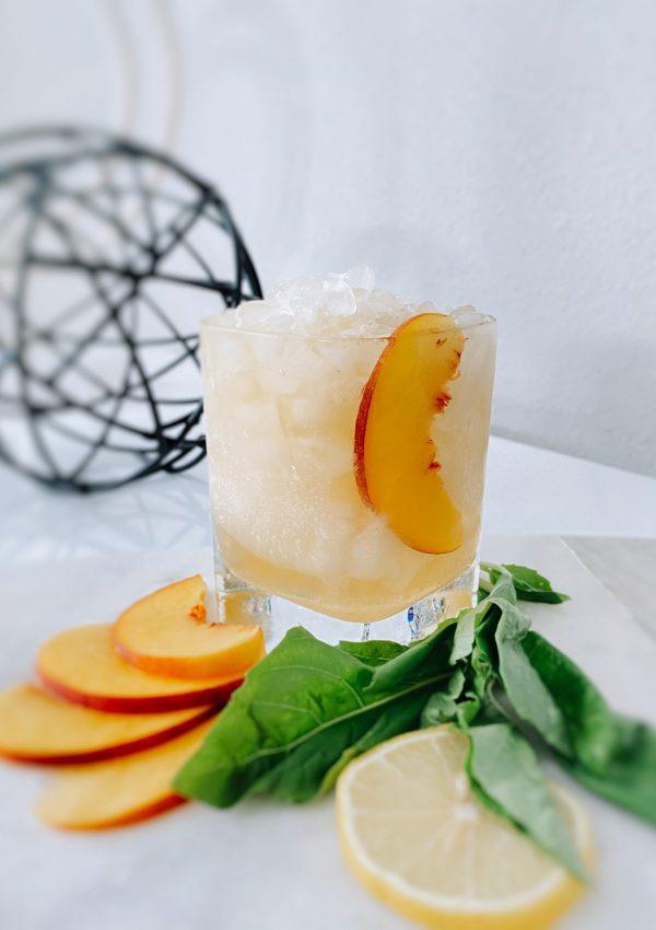 Peach Bourbon Smash
