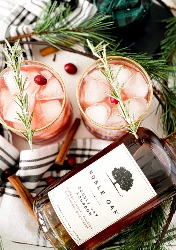 Bourbon Cranberry Spice Cocktail | For Holiday Season